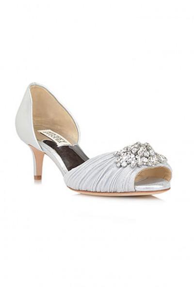 Badgley Mischka - Women's Sabine II Metallic Evening Shoe - Silver