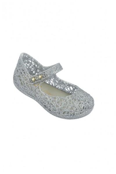 Mini Melissa - Kids Campana Zig Zag VI BB - Silver Glitter