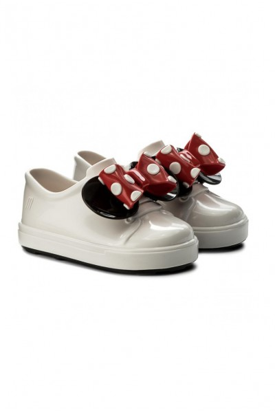 Mini Melissa - Kids Be + Minnie Shoe - White Black