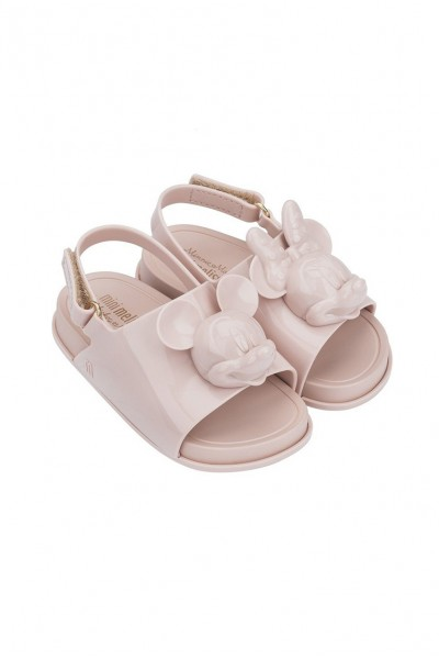 Mini Melissa - Kids Beach Slide + Disney Nude - Light Pink