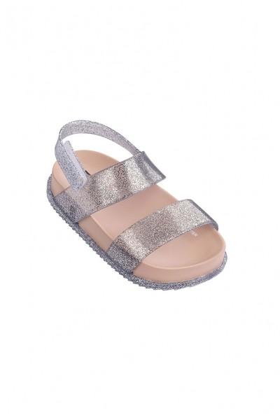 Mini Melissa - Kids Cosmic Sandal Preto - Glitter