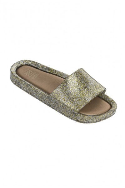 Mini Melissa - Kids Beach Slide - Mixed Gold Glitter