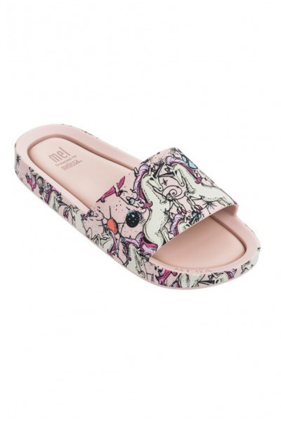 Mini Melissa - Kids Beach Slide 3DB - Pink Beige