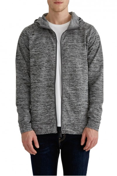 State Concepts - Men's Drirelease French Terry Full-Zip Hoodie - Grey