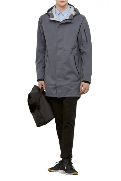 State Concepts - Men's Waterproof Triple Torrent Raincoat - Grey