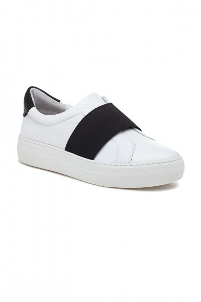 JSlides - Adorn Leather Sneakers - White Black