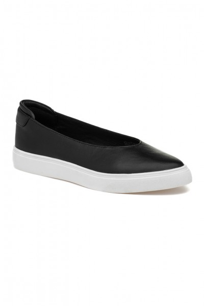 JSlides - Gwen Leather Sneakers - Black