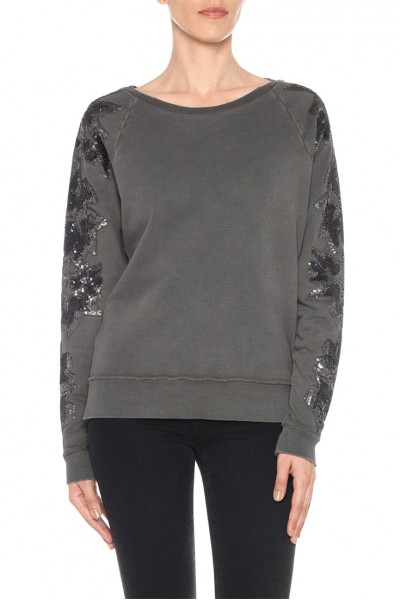 Joe's - Women's Evie Sweatshirt - Washed Black