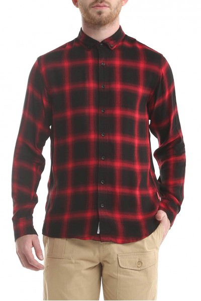 Publish Brand - Men's Antoine Button Up Shirt - Red