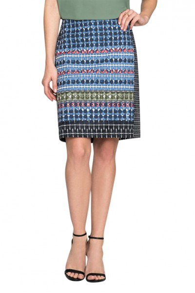 Nic+Zoe - Women's Tile Skirt - Multi