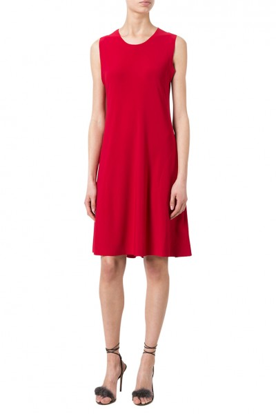 Norma Kamali - Women's Sleeveless Swing Dress - Red