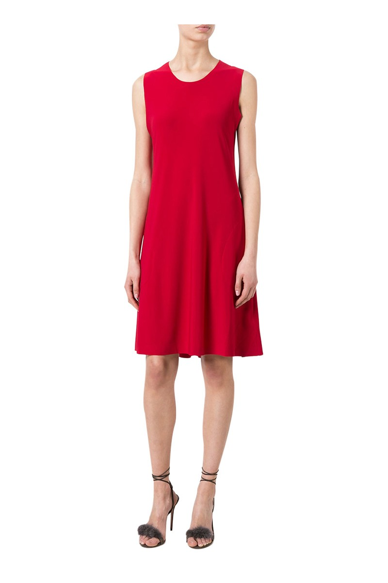 Norma kamali women 39 s sleeveless swing dress red - Norma kamali costumi da bagno ...