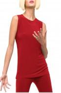 Norma Kamali - Women's Sleeveless Swing Top - Red