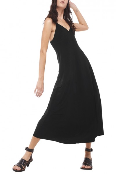 Norma Kamali - Women's Slip Empaired Flaired Dress - Black