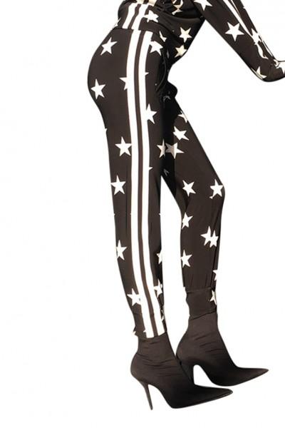 Norma Kamali -  Side Stripe Jog Pant -Star Engineered Stripe