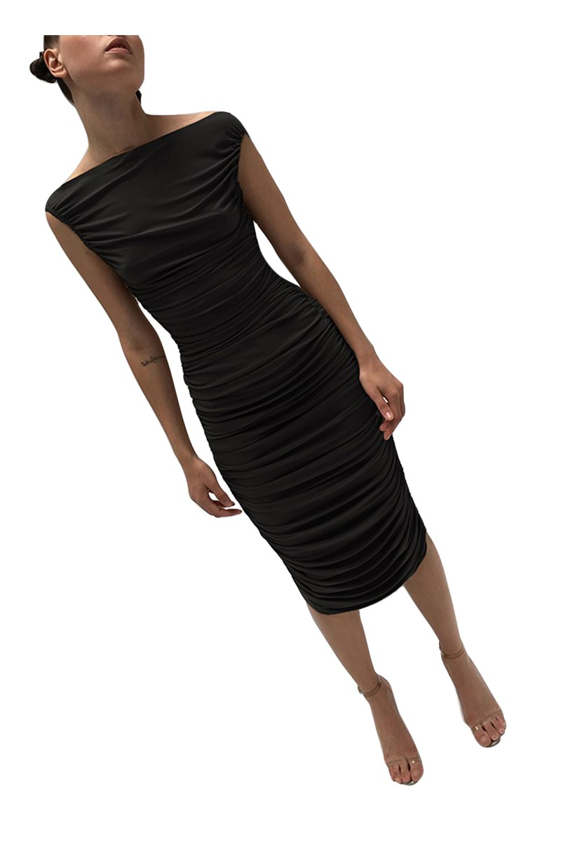 Norma kamali women 39 s tara dress black - Norma kamali costumi da bagno ...