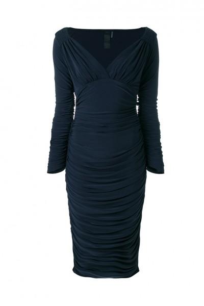 Norma Kamali - Women's Long Sleeve Tara Dress - Pewter