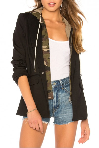 Central Park West - Women's Verbana Jacket - Black Camo