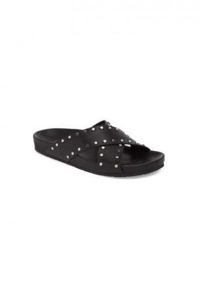 Jslides - Women's Ellie Studded Slide Sandal - Black