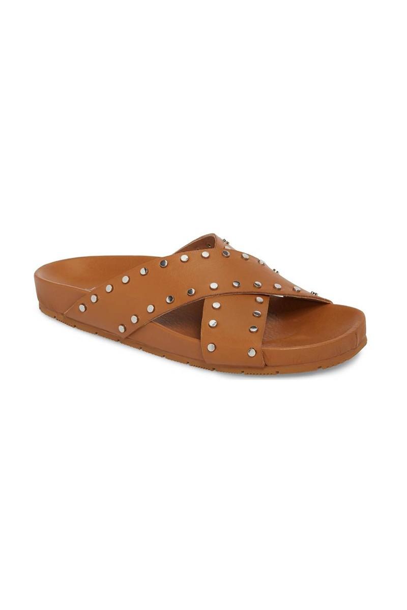 Jslides - Women's Ellie Studded Slide Sandal - Tan