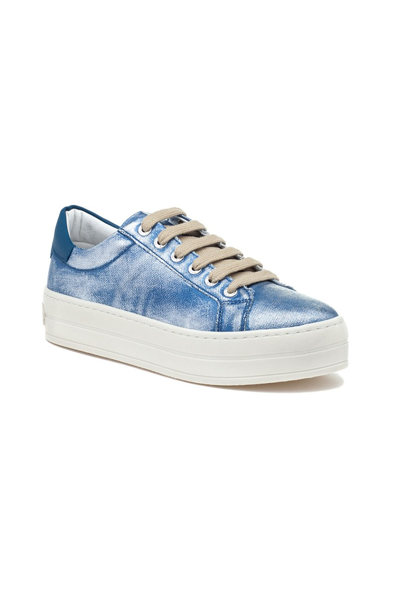 Jslides - Women's Heather Blue Canvas - Blue