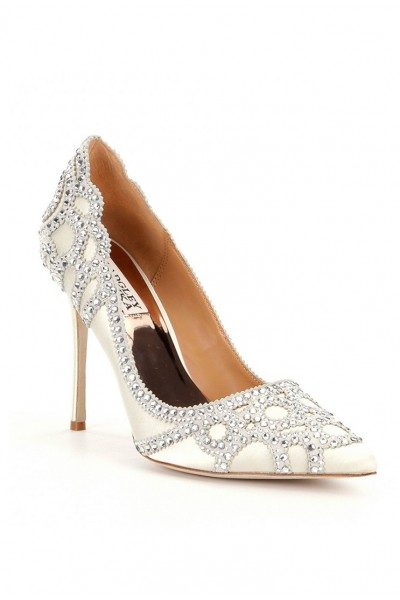 Badgley Mischka - Women's Rouge Embellished Evening Shoe - Ivory