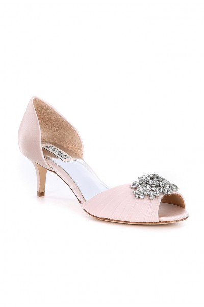 Badgley Mischka - Women's Sabine Satin d'Orsay Pumps - Lt Pink