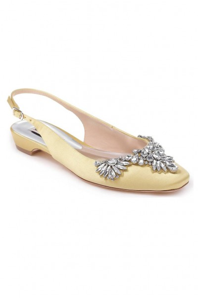 Badgley Mischka - Women's Shayla Slingback Flat - Lemon