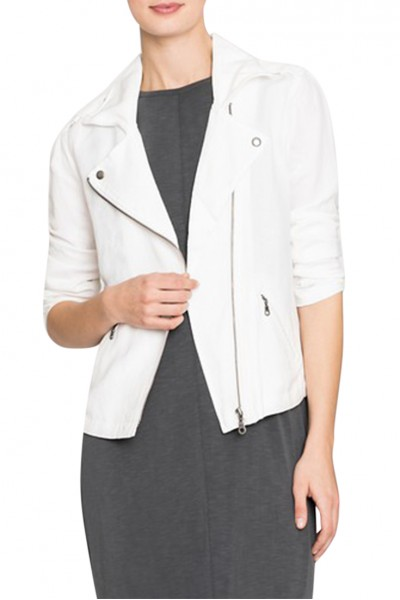 Nic+Zoe - Women's Liner Biker Jacket - Paper White