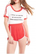 Wildfox - Women's Forever Single Wright Tee - Clean White Red