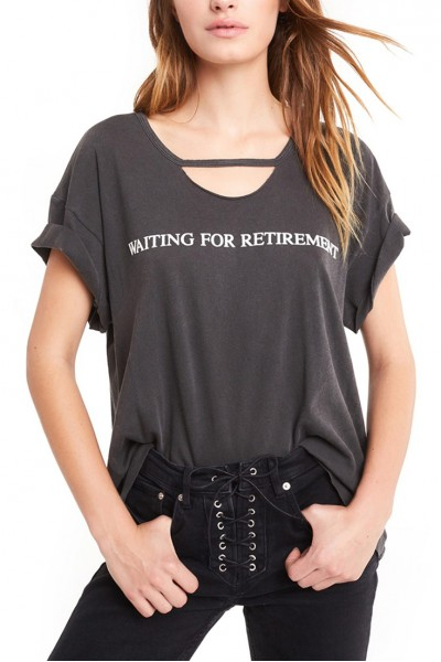 Wildfox - Women's Retired Rivo Tee - Pigment Black