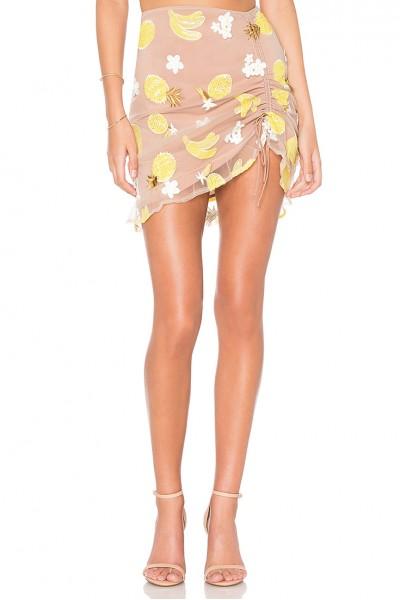 For Love & Lemons - Women's FruitPunch Stirred Miniskirt - Pineapple