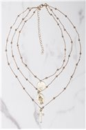 Tease By Tory - Women's Multi Layer Cross Necklace