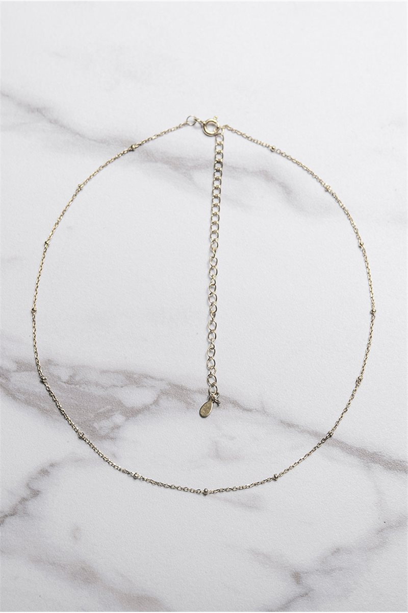 Tease By Tory - Women's Beaded Chain Choker - Silver