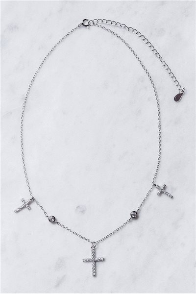 Tease By Tory - Women's Crystal Cross Chain Necklace