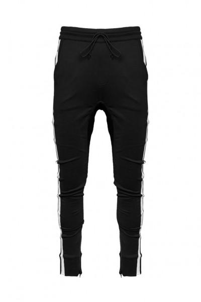 Kollar - Men's Overlap Trackpant - Black White Stripe