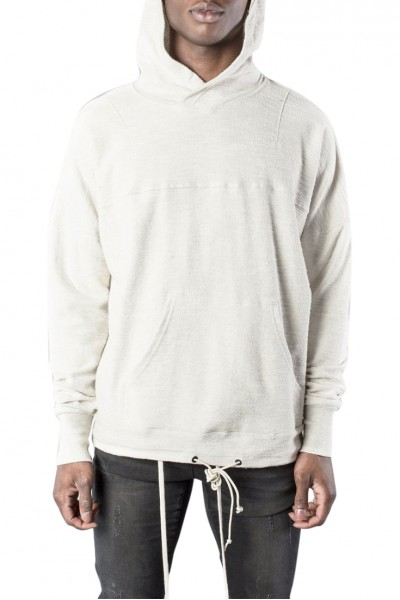 Kollar - Men's Tie Up Hoody - Oat meal