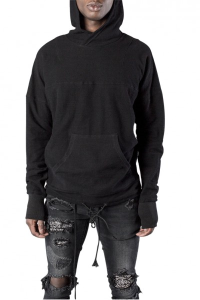 Kollar - Men's Strap Zip Hoody - Black