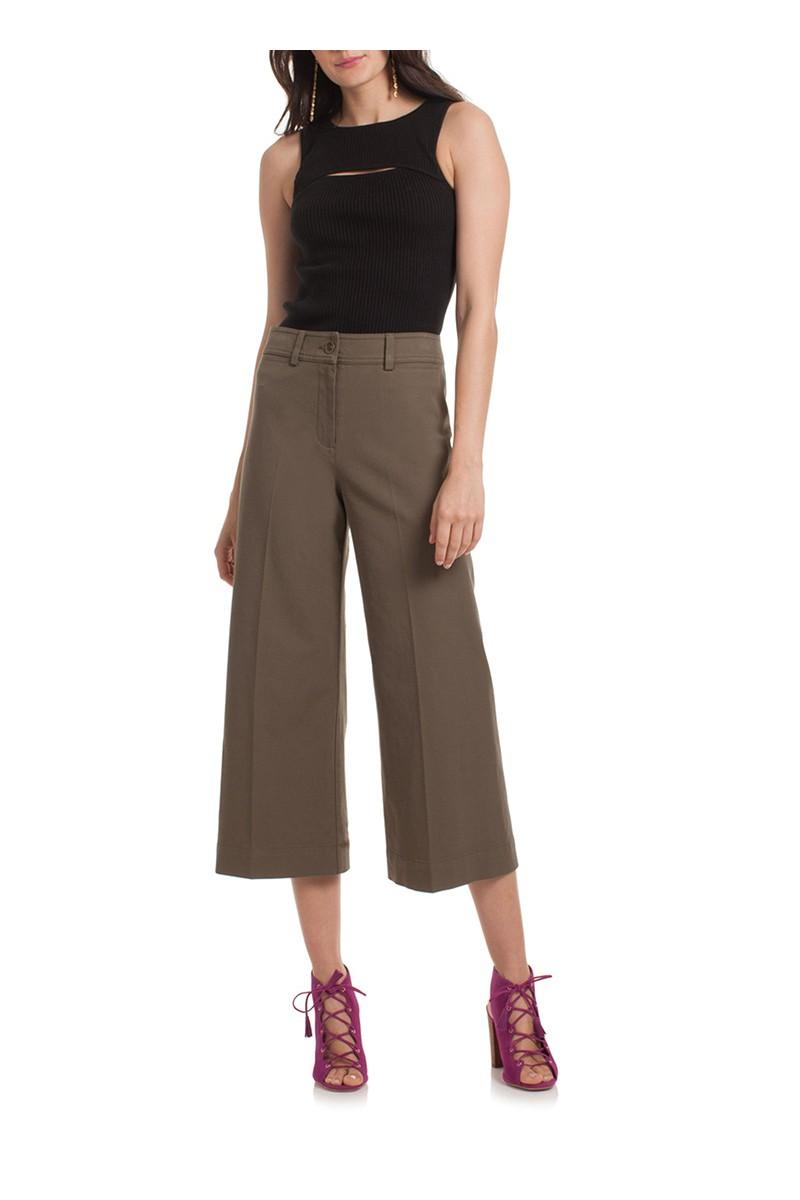 Trina Turk - Women's Tailor Pant - Olive