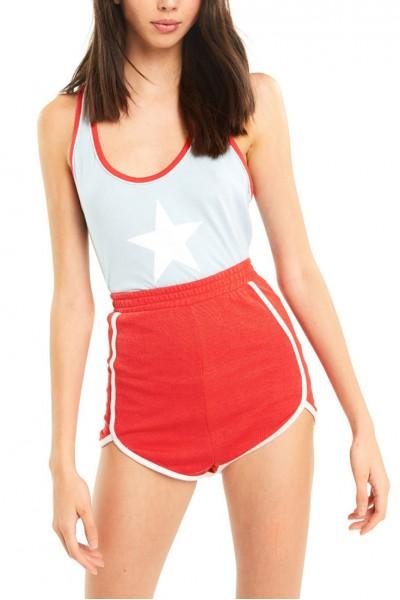 Wildfox - Women's All-Star Lorna Tank - Blue Skies Red Flare
