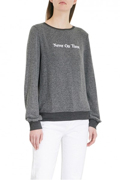 Wildfox - Women's Never On Time fleece sweatshirt - Black