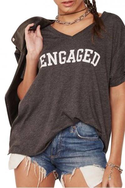 Wildfox - Women's Bride Slogan T-Shirt - Dark Grey