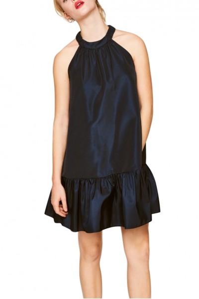 Tara Jarmon -  Women's Ottomon Dress - Midnight Blue