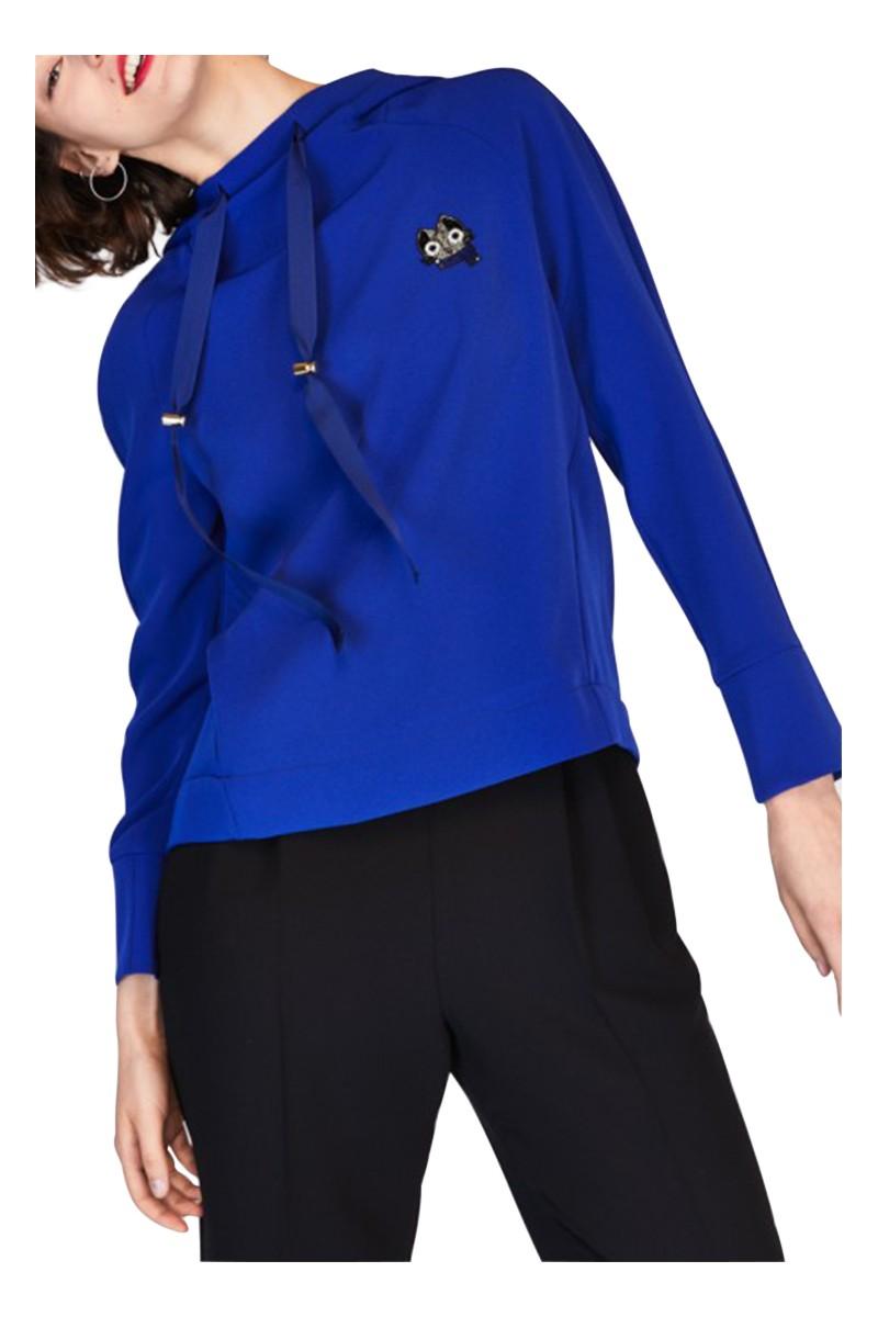 Tara Jarmon -  Women's Crepe Sweatshirt - Blue