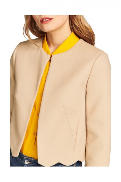 Tara Jarmon -  Women's Scalloped Jacket - Sand