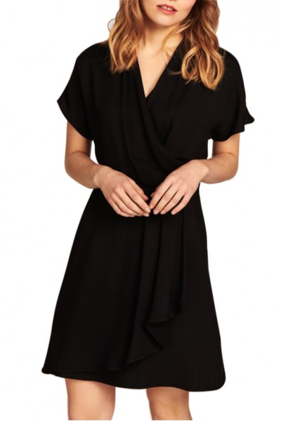 Tara Jarmon -  Women's Draped Dress - Black
