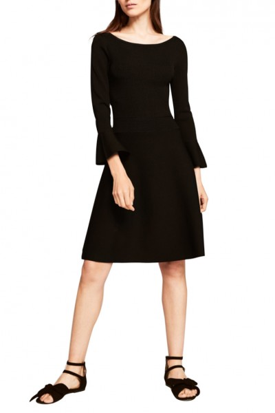 Tara Jarmon -  Women's Viscose Knit Dress - Black
