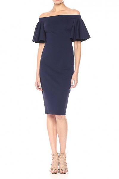 Trina Turk - Women's Off the Shoulder Ruffle Dress - Indigo