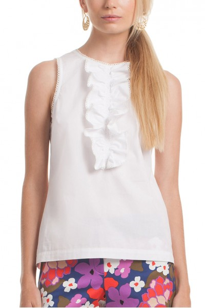 Trina Turk - Women's Evergreen Top - White