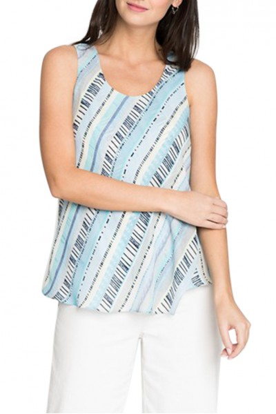 Nic+Zoe - Women's Beach Stripe Tank - Multi